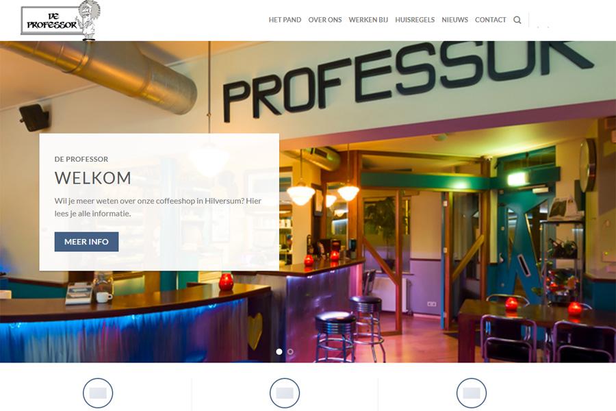 Nieuwe website de professor